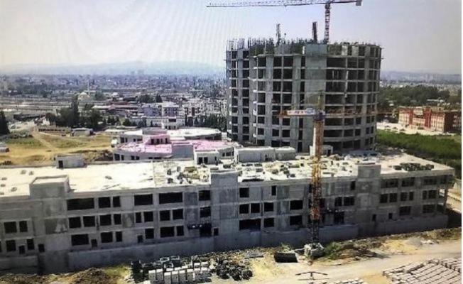 600 Yataklı Tarsus Devlet Hastanesi İnşaatı Sürüyor