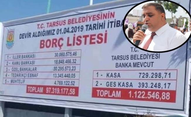 Eski Tarsus Belediye Başkanı Şevket Can, Bıraktığı Borcu Küçümsedi