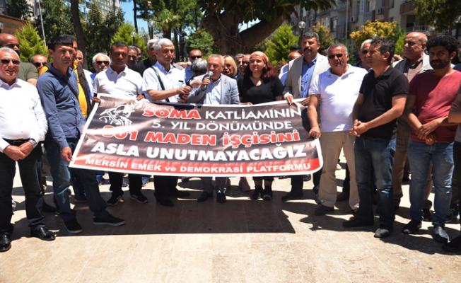Mersin'de Emekçiler Soma Kurbanlarını Andı.