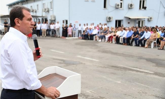 Başkan Seçer Büyükşehir ve Meski Personeli İle Bayramlaştı.