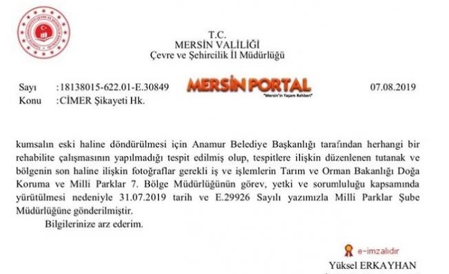 Anamur Belediyesi Ceza ve Uyarıları Hiçe Sayıyor!