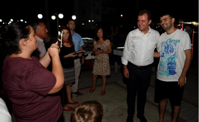 Başkan Seçer, Susanoğlu Sahilinde Gece Yarısı İncelemelerde Bulundu.