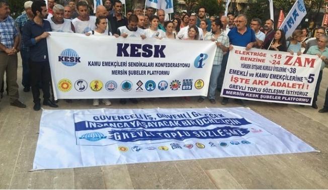 KESK'in Yürüyüş Kolu Mersin'de