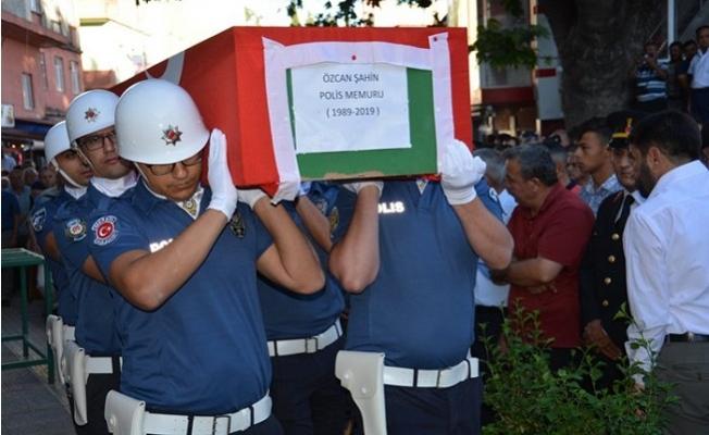 Mersin'de Şehit Polise Hüzünlü Tören