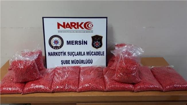 Mersin'de Uyuşturucu Hap Operasyonu