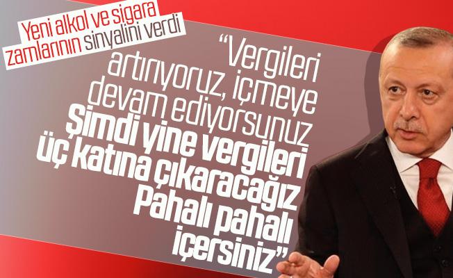 Erdoğan Sinyali Verdi! Sigara ve Alkolde Vergi Artışı Yolda