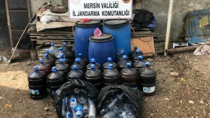 Mersin'de Kaçak İçki Operasyonu