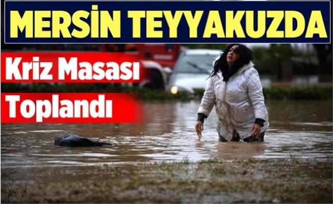 Meteoroloji'den Mersin için Yağış ve Sel Uyarısı