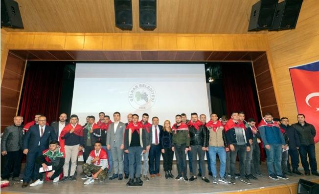 Gülnar'da 29 Genç Dualarla Askere Uğurlandı