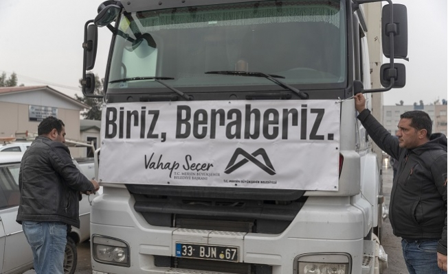 Mersin Büyükşehir Elazığ'a Yardımlarını Sürdürüyor