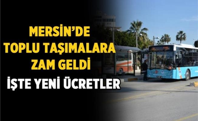 Mersin'de Toplu Taşımaya Zam