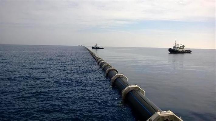 Mersin'den KKTC'ye Su Taşıyan Borular Patladı