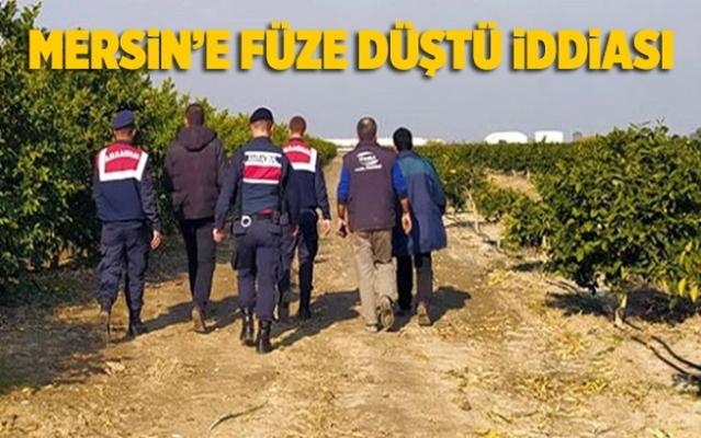 Mersin'e Füze Düştü İddiası Jandarmayı Harekete Geçirdi