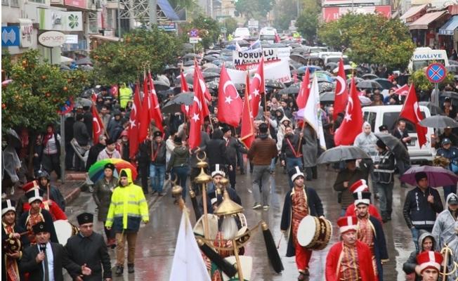 Mersin, Zafer Yürüyüşü'nde Sel Olup Aktı