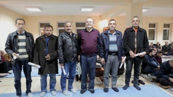 Mut'ta Ziraat Kursiyerlerine Sertifika