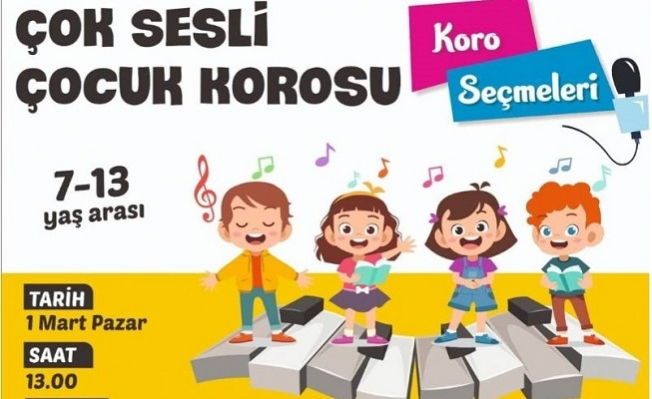 Büyükşehir'den Bir İlk: Çok Sesli Çocuk Korosu