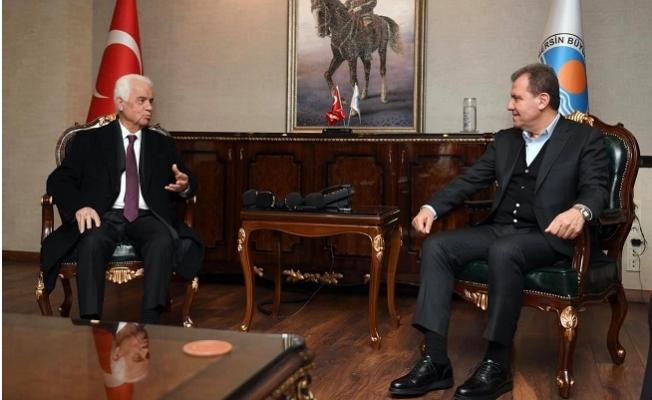 KKTC'NİN Üçüncü Cumhurbaşkanı Derviş Eroğlu, Başkan Seçer'i Ziyaret Etti