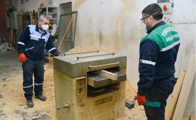 Yenişehir'de İhtiyaçlar Belediye Atölyelerinde Üretiliyor