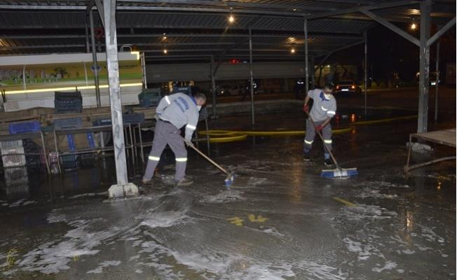 Yenişehir'de Pazar Yerleri Dezenfekte Ediliyor