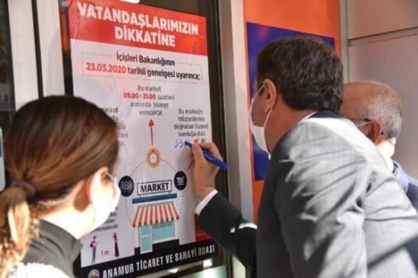 Anamur'da Alış Veriş Merkezlerine Metrekare Uyarısı