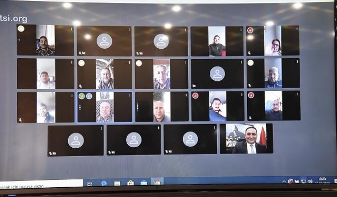 Başkan Yılmaz, Muhtarlarla Videokonferans Yoluyla Toplantı Yaptı.