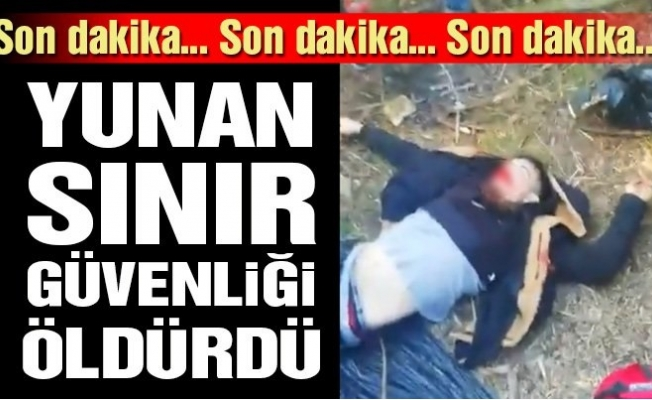 Suriyeli Göçmen Yunanistan Sınırında Öldürüldü