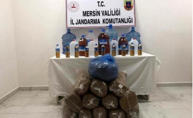 Silifke'de Kaçak İçki ve Tütün Operasyonu