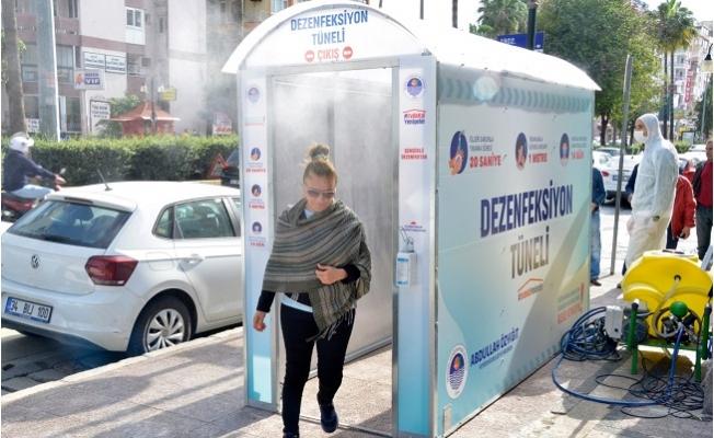 Yenişehir Belediyesi Dezenfektan Tüneli Kurdu