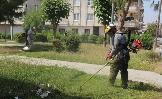 Akdeniz'de Park Bahçelerin Bakım Çalışmaları Hız Kazandı