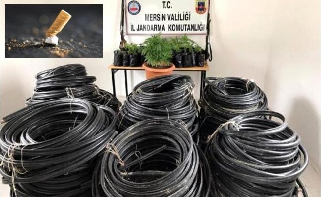 Gülnar'da Kablo Hırsızlarını, Ayak İzi ve Sigara İzmariti Ele Verdi