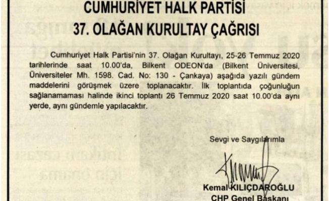 CHP'nin Olağan Kurultay'ının Tarihi Kesinleşti