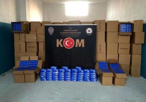 Mersin'de 2 Milyon Lira Değerinde Kaçak Makaron Ele Geçirildi