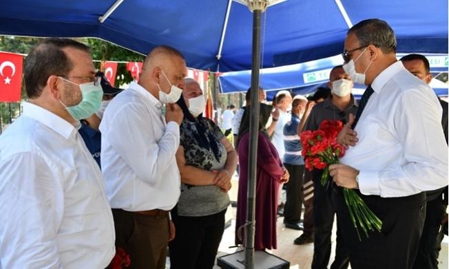 Mersin'de Bayram Öncesi Şehitlikte Hüzünlü Ziyaret