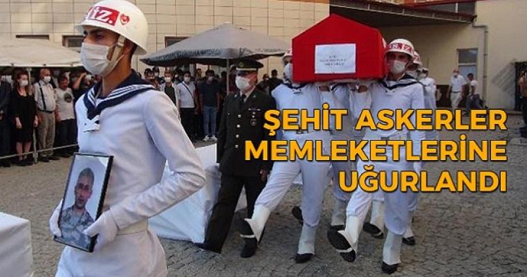 Mersin'de Şehit Olan Askerler Memleketlerine Uğurlanıyor
