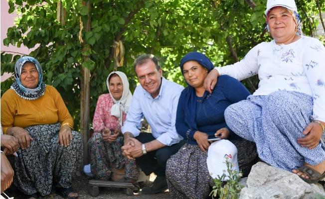 Başkan Seçer, Mezitli'nin Kırsal Mahallelerine Çıkarma Yaptı.
