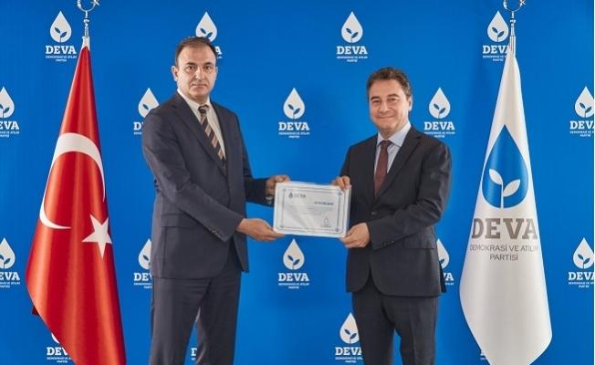 Deva Partisi Mersin İl Başkanlığına Cenk Cimenoğlu Getirildi.