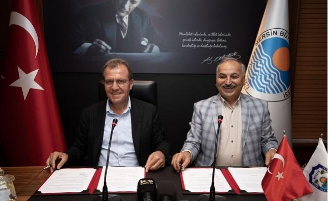 Mersin Büyükşehir, Esnaf ve Sanatkâr Eğitim Merkezi Protokolünü İmzaladı.