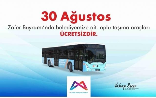 Mersin'de 30 Ağustos Zafer Bayramı'nda Otobüsler Ücretsiz
