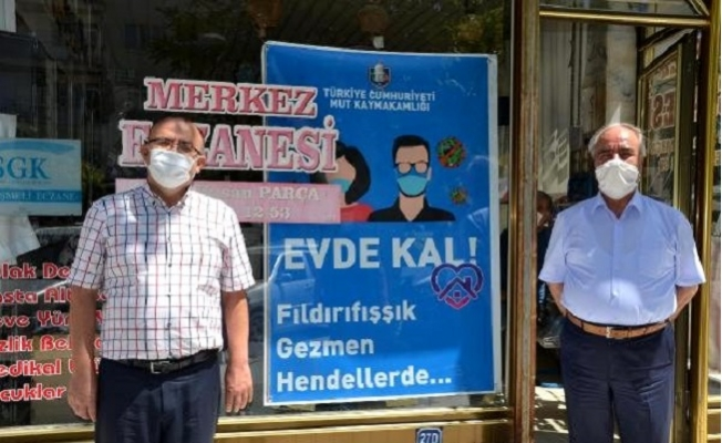 Mut'ta Yöresel Şiveyle Koronavirüs Uyarı Afişleri