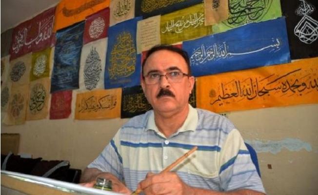 40 Yıllık Türkmen Hattat, Sanatını Mersin'de Sürdürüyor