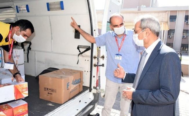 Başkan Bozdoğan'dan Sağlık Çalışanlarına Tıbbi Malzeme Desteği
