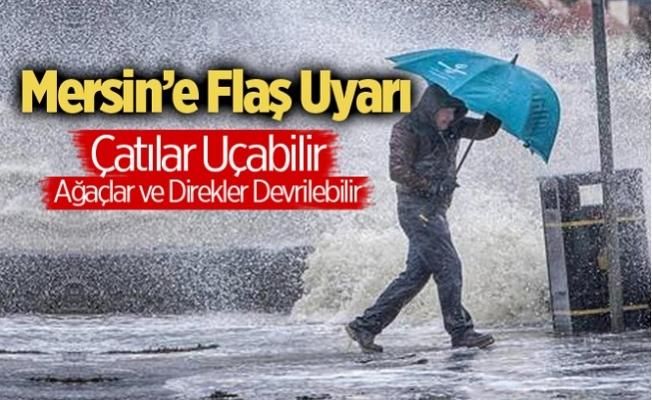 Mersin'e Meteoroloji'den Fırtına Uyarısı Yapıldı