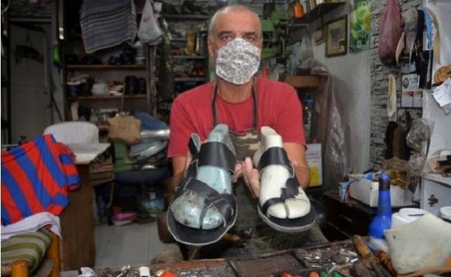 Mersin´in Tek Sandalet Ustası, Teknolojiye ve Zamana Direniyor