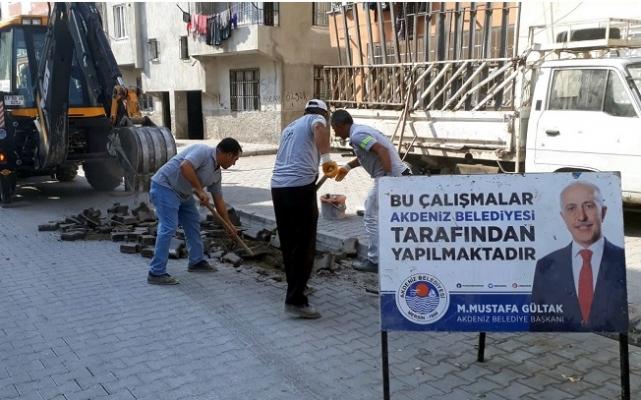 Akdeniz'de Fen İşleri Ekipleri İlçenin Dört Bir Yanında...