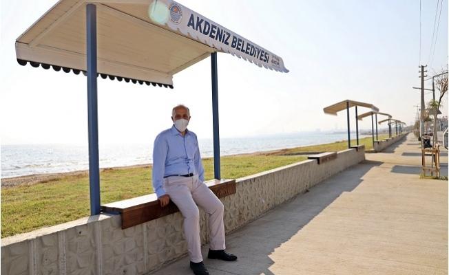 Başkan Gültak, Karaduvar Sahil Çalışmalarını İnceledi.