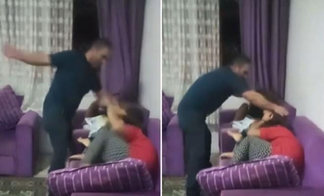 Çocuklarına Şiddeti Canlı Yayınlayan Babaya Gözaltı