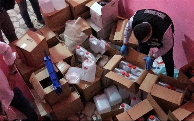 Mersin'de 700 Litre Sahte Etil Alkol Ele Geçirildi: 4 Gözaltı