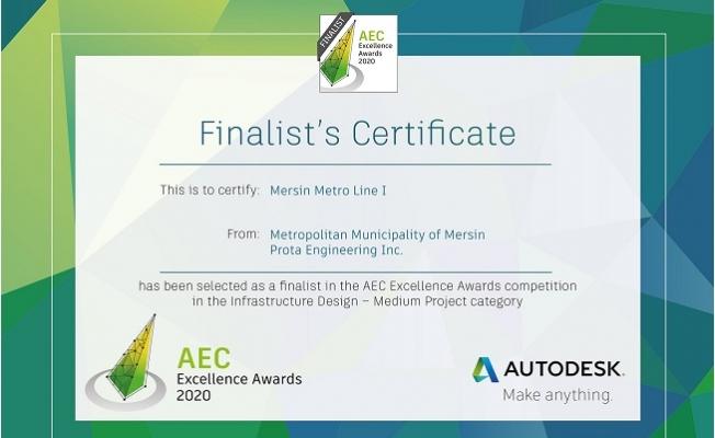 Mersin Metro Projesi 260 Proje Arasında Finale Kaldı.