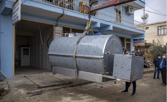 Büyükşehir'den 5 Kooperatife Süt Soğutma Tankı Desteği