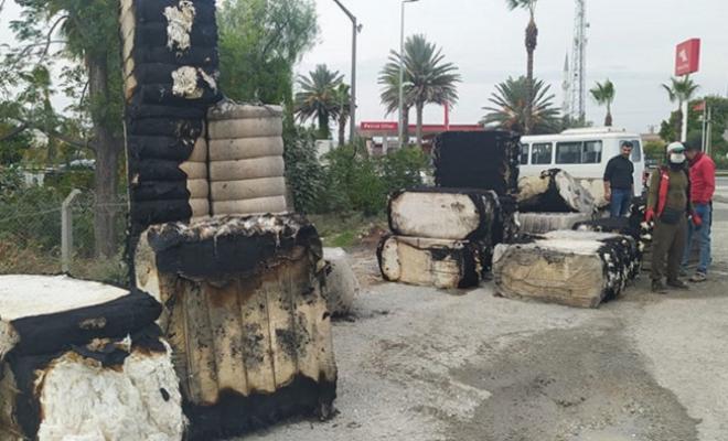 Çırçır Fabrikasında Yangında 40 Ton Pamuk Balyası Yandı